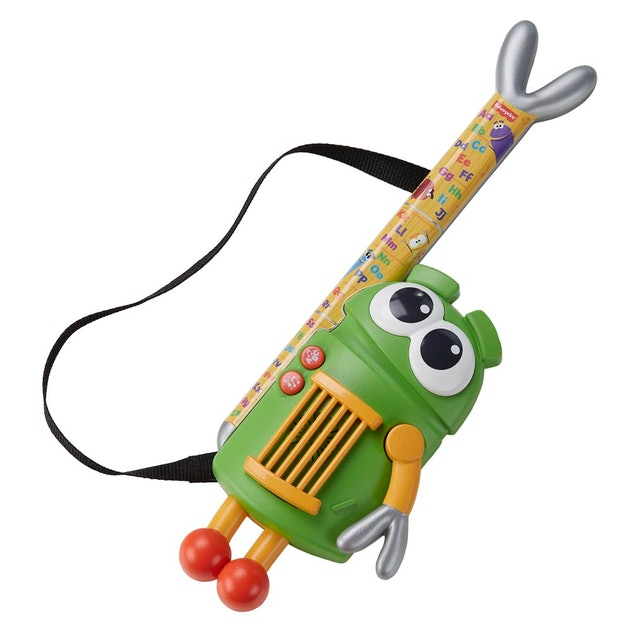 Five new 'StoryBots' toys will hit shelves in fall 2020, including the A to Z Rock Star Guitar.