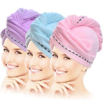 Vinker 3 Pack Hair Towel Wrap