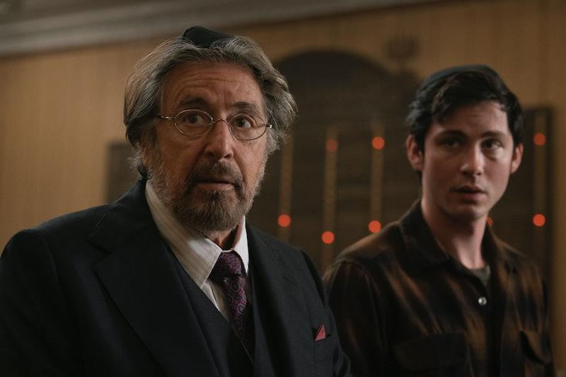 Al Pacino as Meyer Offerman and Logan Lerman as Jonah Heidelbaum in Hunters
