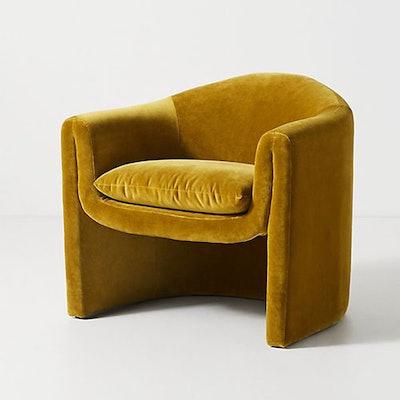 Velvet Sculptural Chair