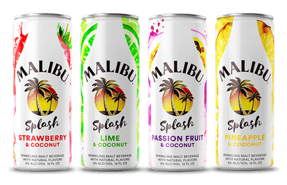 Malibu Splash comes in four flavors including Passion Fruit & Coconut and Pineapple & Coconut.