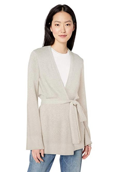 Amazon Brand - Daily Ritual Women's Wool Blend Long-line Open-Front Cardigan Sweater