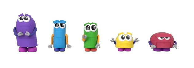 Five new 'StoryBots' toys will hit shelves in fall 2020, including the five character figure pack.
