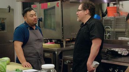 Roy Choi and Jon Favreau in 'The Chef Show' Netflix