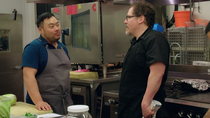 Roy Choi and Jon Favreau in 'The Chef Show' Netflix