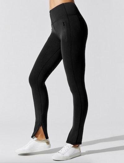 Reverse Neoprene Zip Pant