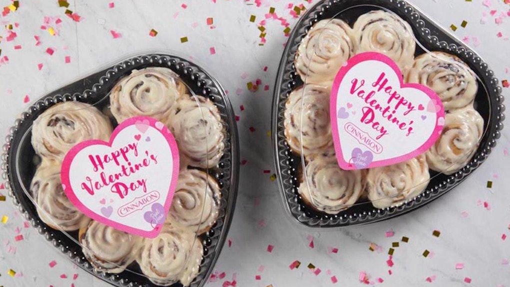 Cinnabon is selling heart-shaped trays for Valentine's Day 2020.