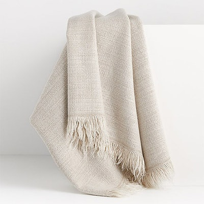 Plain Weave Sand Fringe Throw