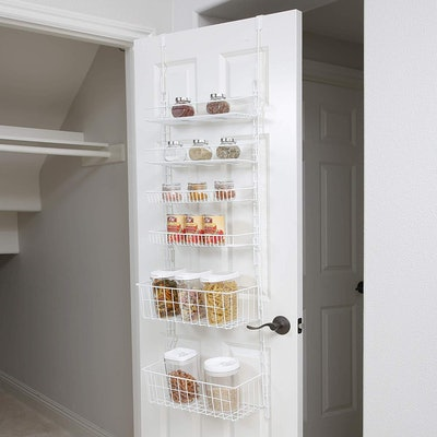 Smart Design Over The Door Adjustable Pantry Organizer