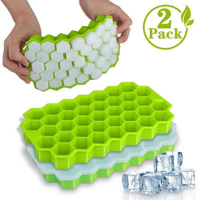 WETONG Silicone Ice Cube Molds (2 pack)