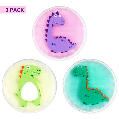 Hilph Boo Boo Buddy Ice Pack for Kids Injuries, 3 Pack - in Dinosaurs