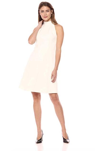 Lark & Ro Women's Sleeveless Mock Neck A-Line Dress