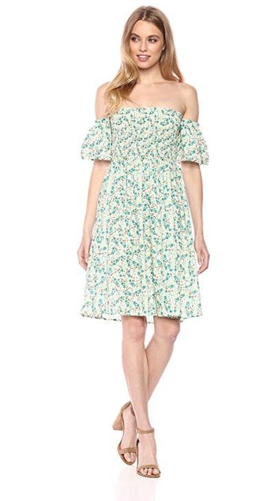 Serene Bohemian Women's Smock Off Shoulder Dress