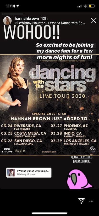Hannah Brown 'DWTS' Tour Dates