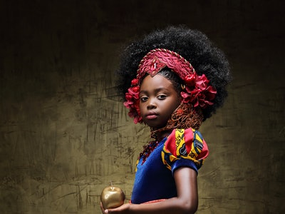 An African-American Princess themed photo series from LaChanda Gatson celebrates beauty and diversity by reimagining traditional fairytale princesses.