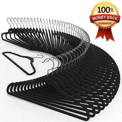 TechZoo Velvet Hangers (50-Pack)