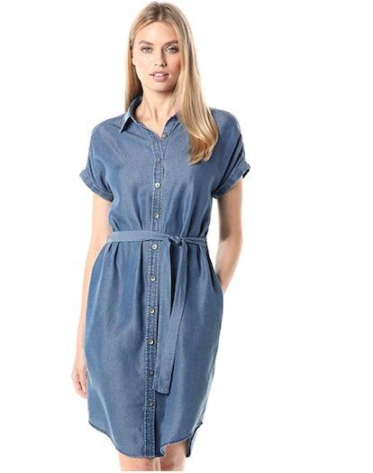 Daily Ritual Women's Tencel Short-Sleeve Shirt Dress