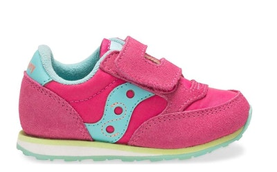 Saucony Kids' Baby Jazz H&l-K Sneaker in Pink/Turquoise/Lime