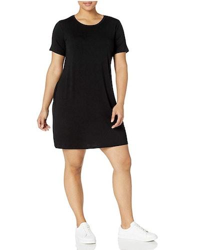 Daily Ritual Women's Plus Size Jersey Short-Sleeve T-Shirt Dress