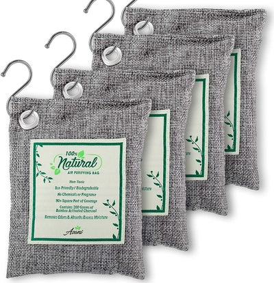 Asani Air Purifier Bags With Bamboo Activated Charcoal (4-Pack)