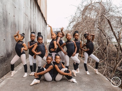 A photoshoot involving 10 young African-American ballerinas has gone viral for their fierce looks and determination.