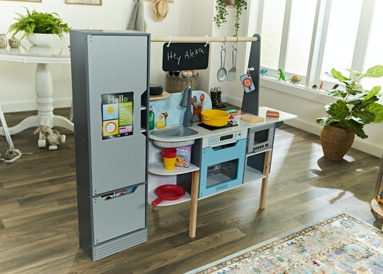 interactive toy kitchen connects with alexa