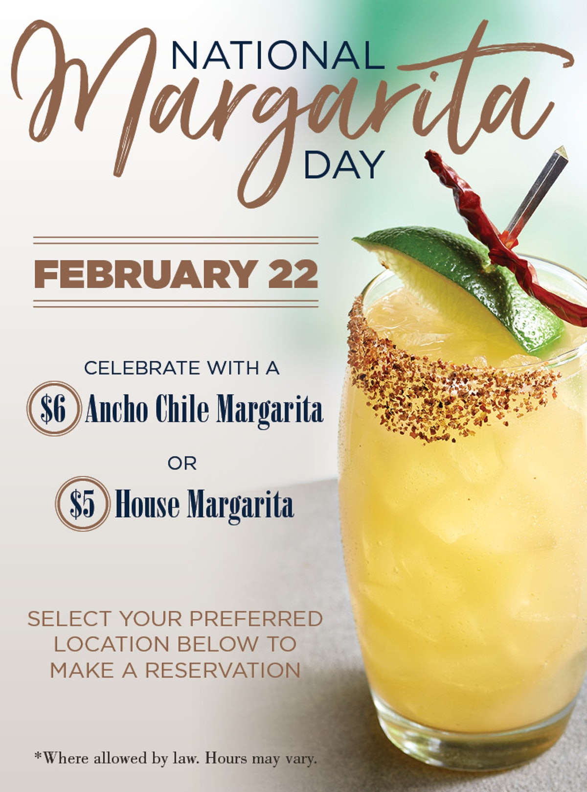These National Margarita Day 2020 deals will save you some cash.