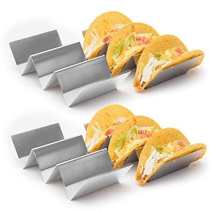 Stainless Steel Taco Holder Stands (4-Pack)