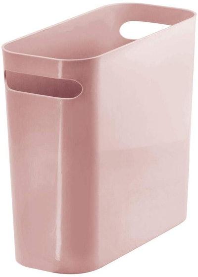 mDesign Slim Plastic Rectangular Small Trash Can Wastebasket