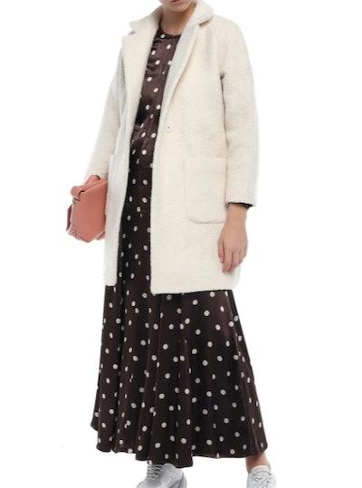 Fenn belted wool-blend bouclé  coat