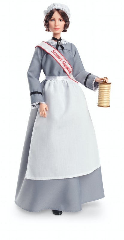 "A Florence Nightingale Barbie is here as part of Mattel's ""Inspiring Women"" Collection."