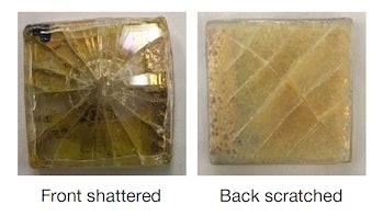 damaged solar cell