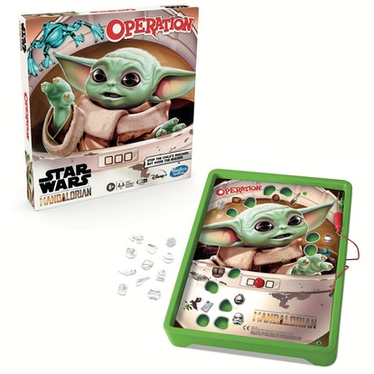 inside view of Baby Yoda Operation game