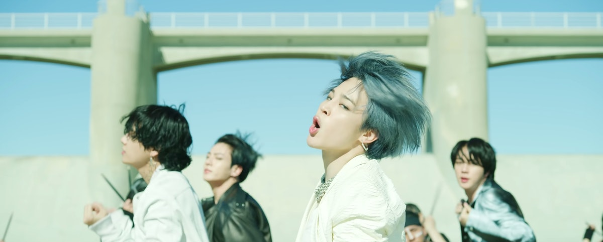 """BTS' """"ON"""" music video screenshot from YouTube."""