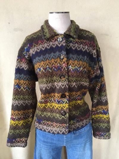 Vintage button up sweater USA ladies medium