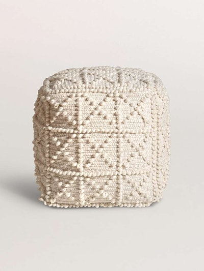 Textured Square Pouffe