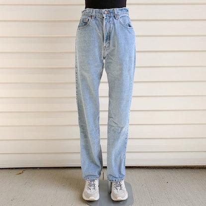 Vintage 560 High-Rise Light-Wash Jeans