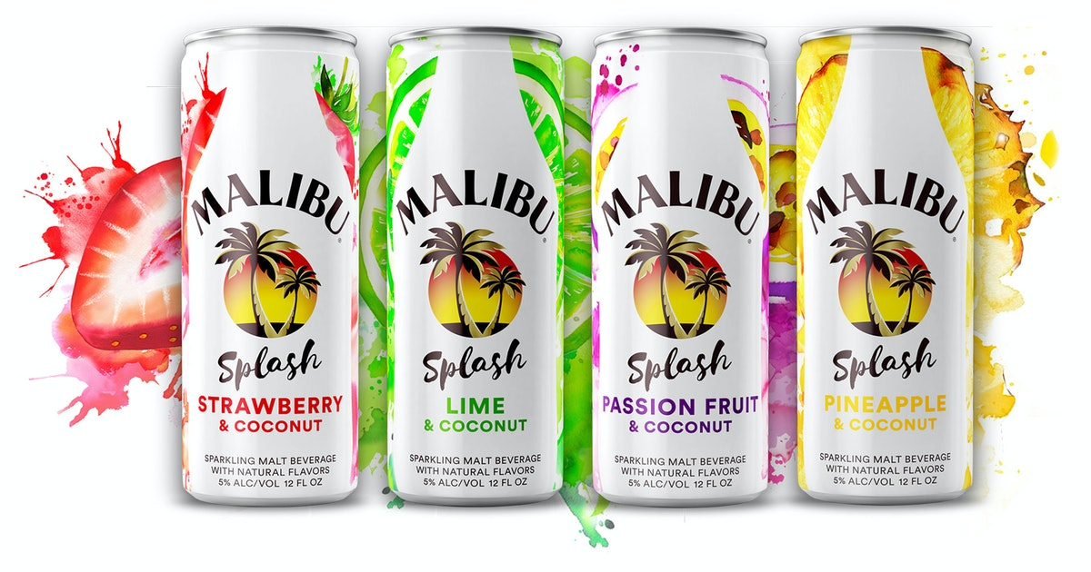 Malibu Is Selling Sparkling, Ready-To-Drink Cocktails With Fruit & Coconut Flavors
