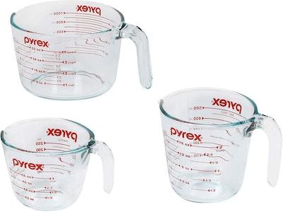 Pyrex Measuring Cups, 3-Piece Set