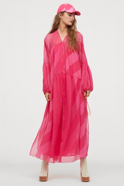 H&M Voluminous Chiffon Dress