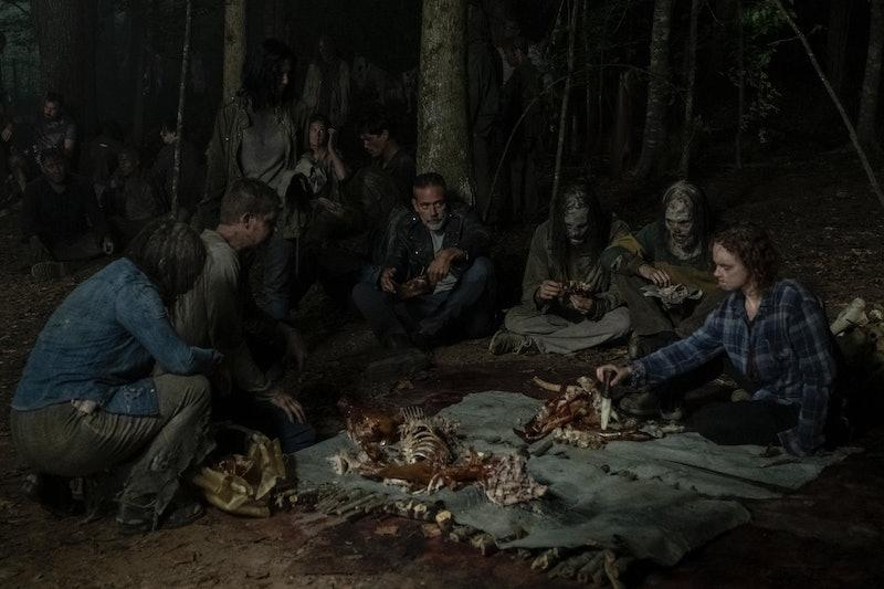 Jeffrey Dean Morgan as Negan and Thora Birch as Gamma in The Walking Dead