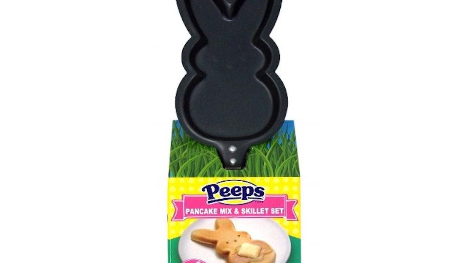 peeps pancake mix & skillet set