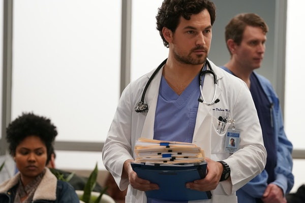 DeLuca battles a snowstorm in the 'Grey's Anatomy' Season 16, Episode 15 promo