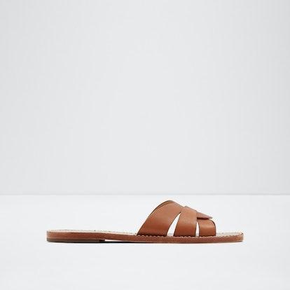 Tobacco Flat Slide Sandal