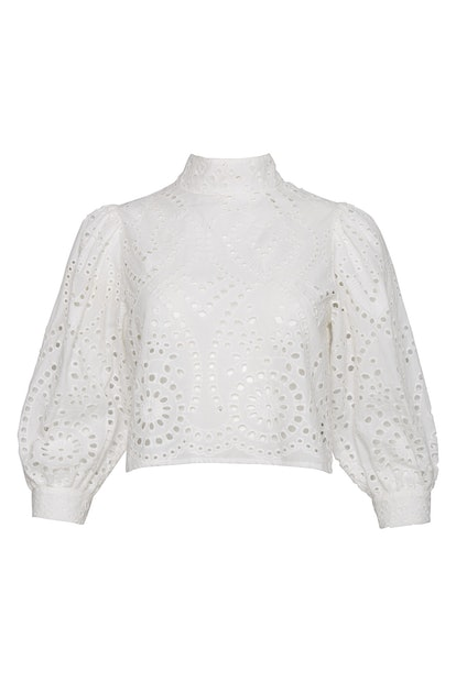 Stephanie Lace Blouse - White