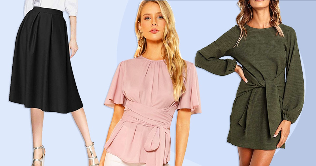 26 Highly Rated Pieces On Amazon That Give You A Cinched-Waist Look