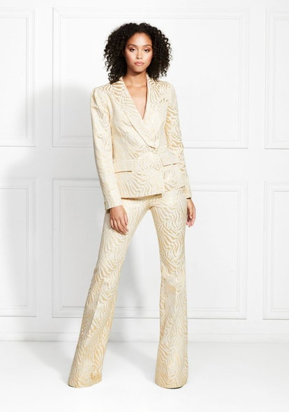 Ringo Metallic Suiting Flared Trousers