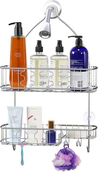 Simple Houseware Bathroom Hanging Shower Head Caddy