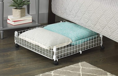 Whitmor Rolling Wire Under-Bed Cart