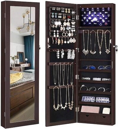 SONGMICS Jewelry Cabinet